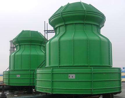 冷却塔采用逆流式气热交换技术
