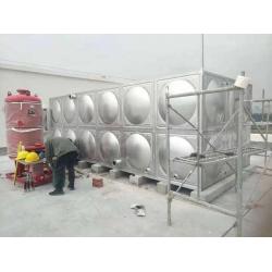 眉山泡菜城30立方不锈钢消防水箱安装现场