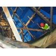 4台方形逆流冷却塔填料喷头更换维修施工现场