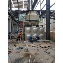 雅安荥经冷却塔水循环系统安装现场